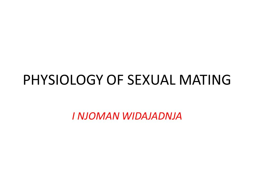 Why Sex is Necessary.