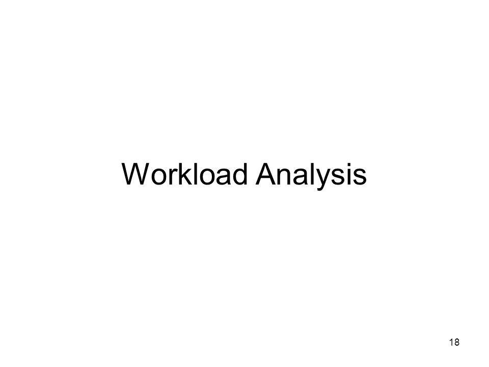 18 Workload Analysis