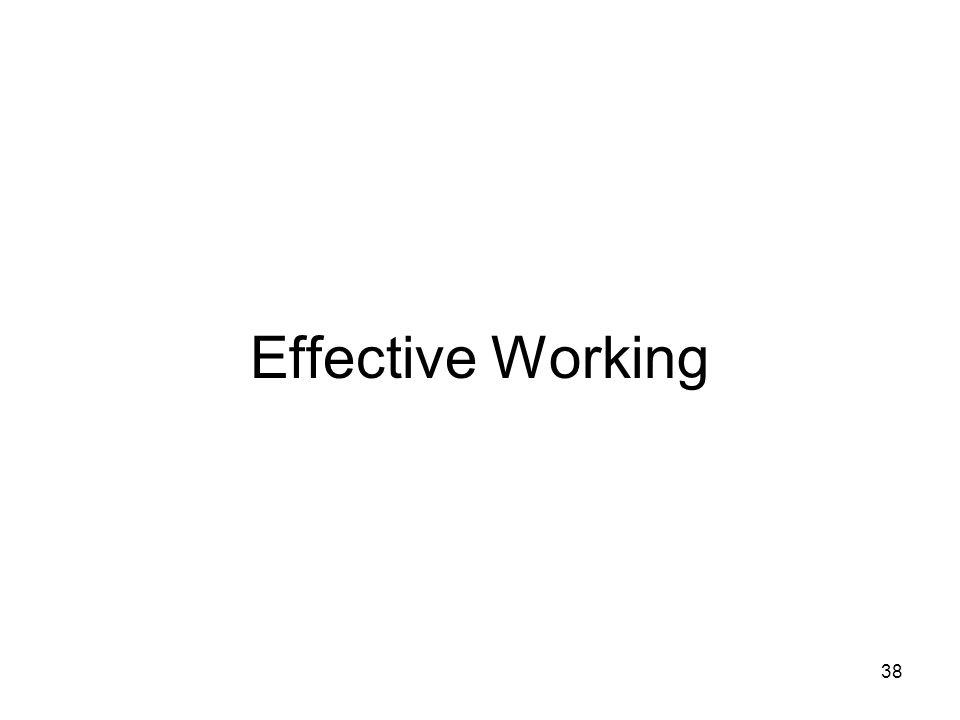 38 Effective Working