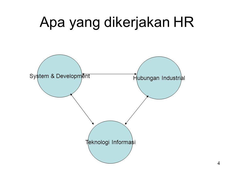 4 Apa yang dikerjakan HR System & Development Teknologi Informasi Hubungan Industrial