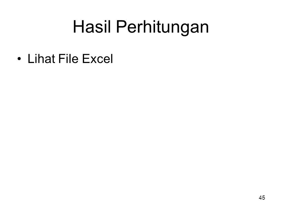 45 Hasil Perhitungan Lihat File Excel
