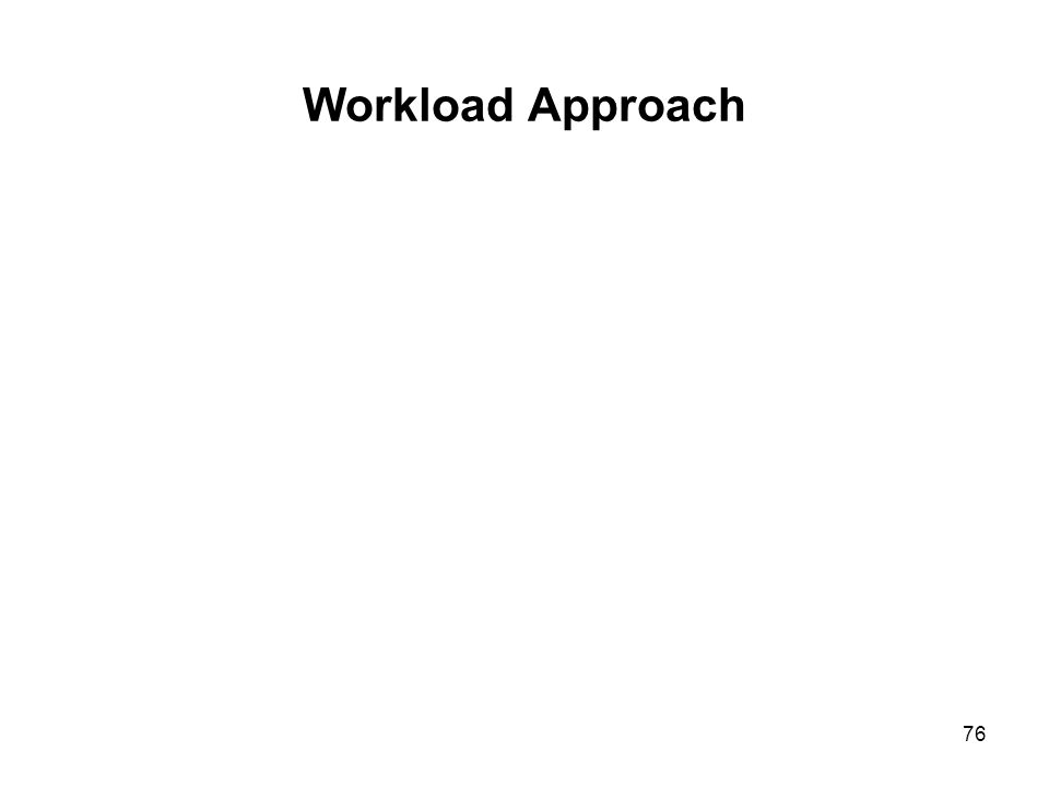 76 Workload Approach