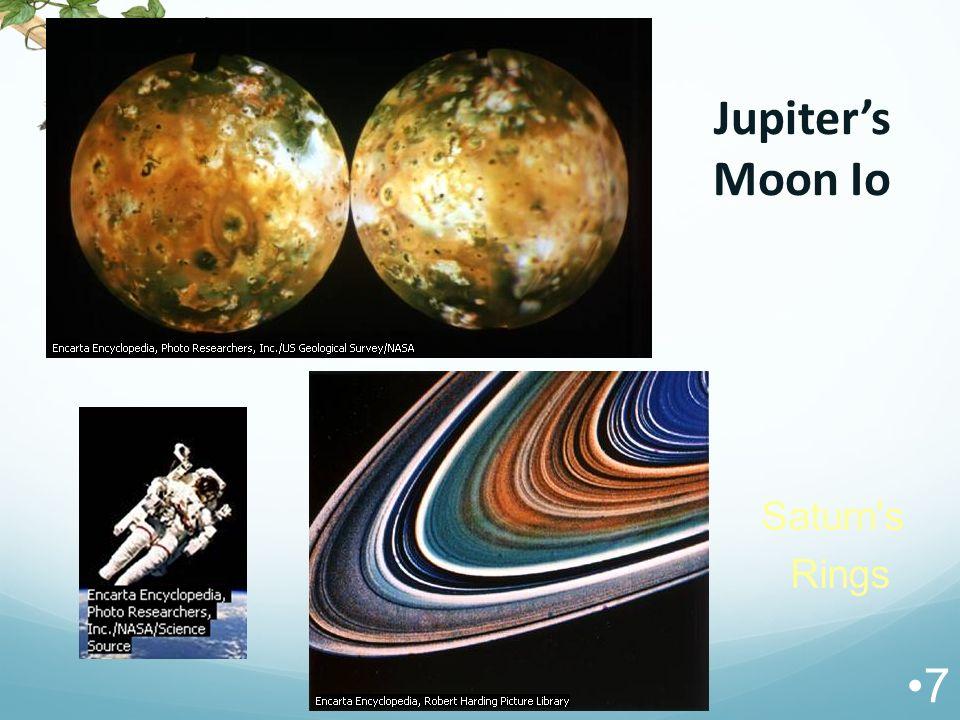 Jupiter's Moon Io 7 Saturn's Rings