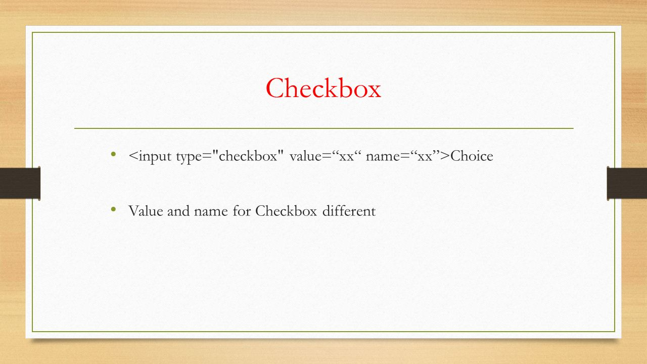 Checkbox Choice Value and name for Checkbox different