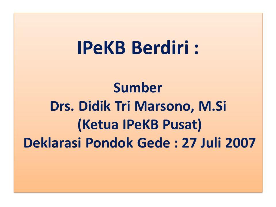 IPeKB Berdiri : Sumber Drs.