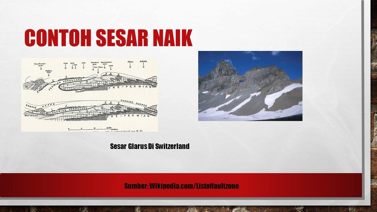CONTOH SESAR NAIK Sesar Glarus Di Switzerland Sumber: Wikipedia.com/Listoffaultzone