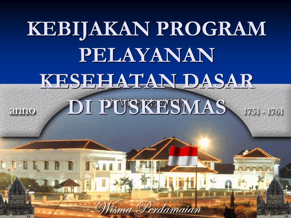 02/12/2015 KEBIJAKAN PROGRAM PELAYANAN KESEHATAN DASAR DI PUSKESMAS
