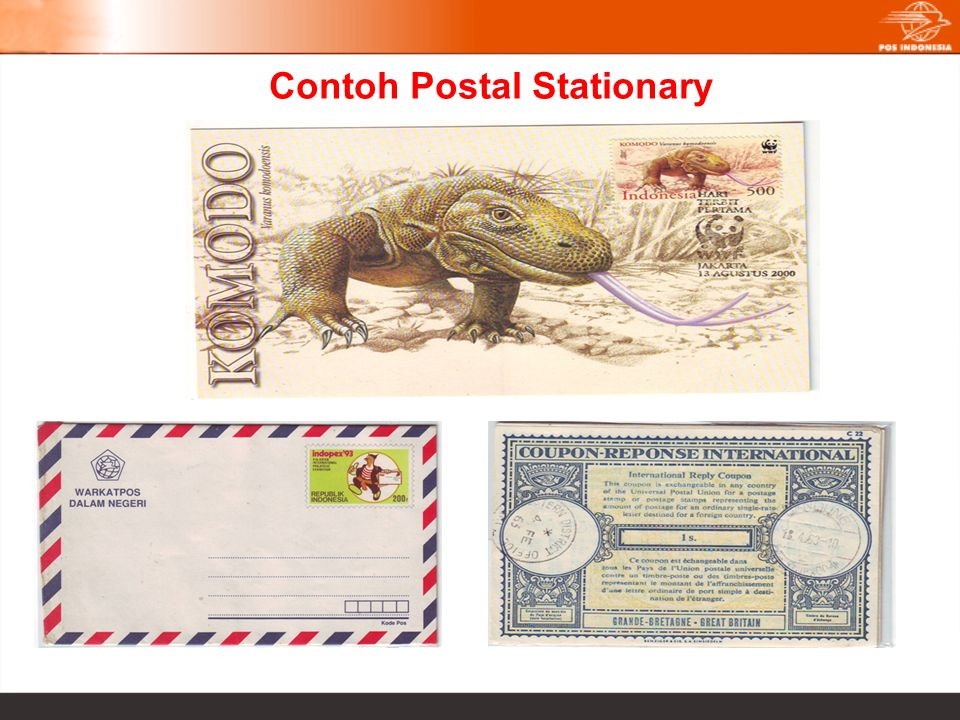 Contoh Postal Stationary