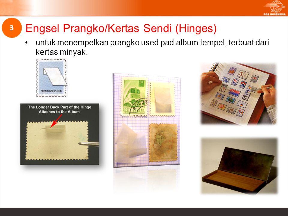 untuk menempelkan prangko used pad album tempel, terbuat dari kertas minyak. Engsel Prangko/Kertas Sendi (Hinges) 3