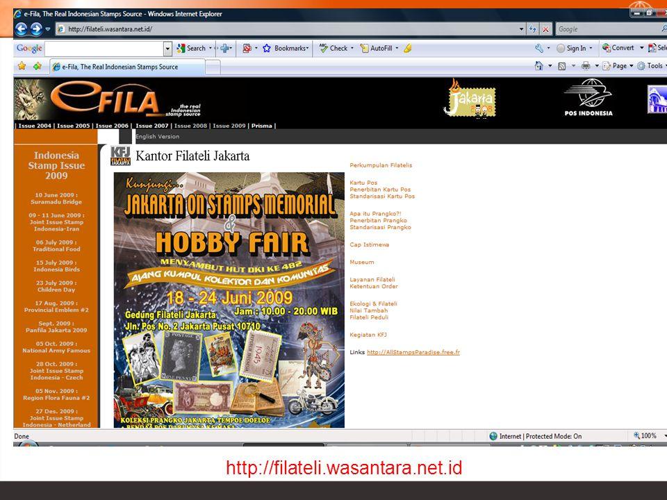 Kemana mencari benda-benda filateli? http://filateli.wasantara.net.id