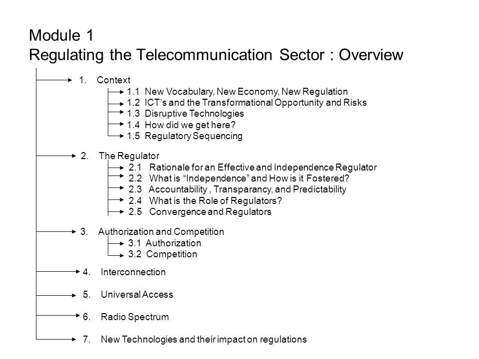 POINT PENJELASAN Regulasi pada sektor telekomunikasi 1.