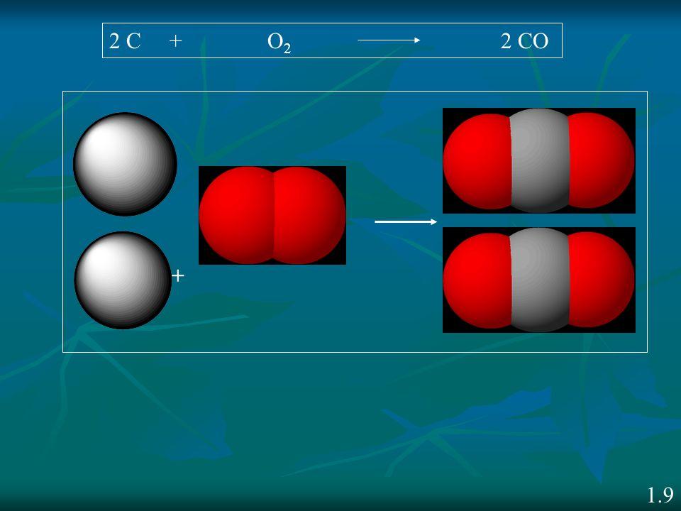 + 2 C + O 2 2 CO 1.9