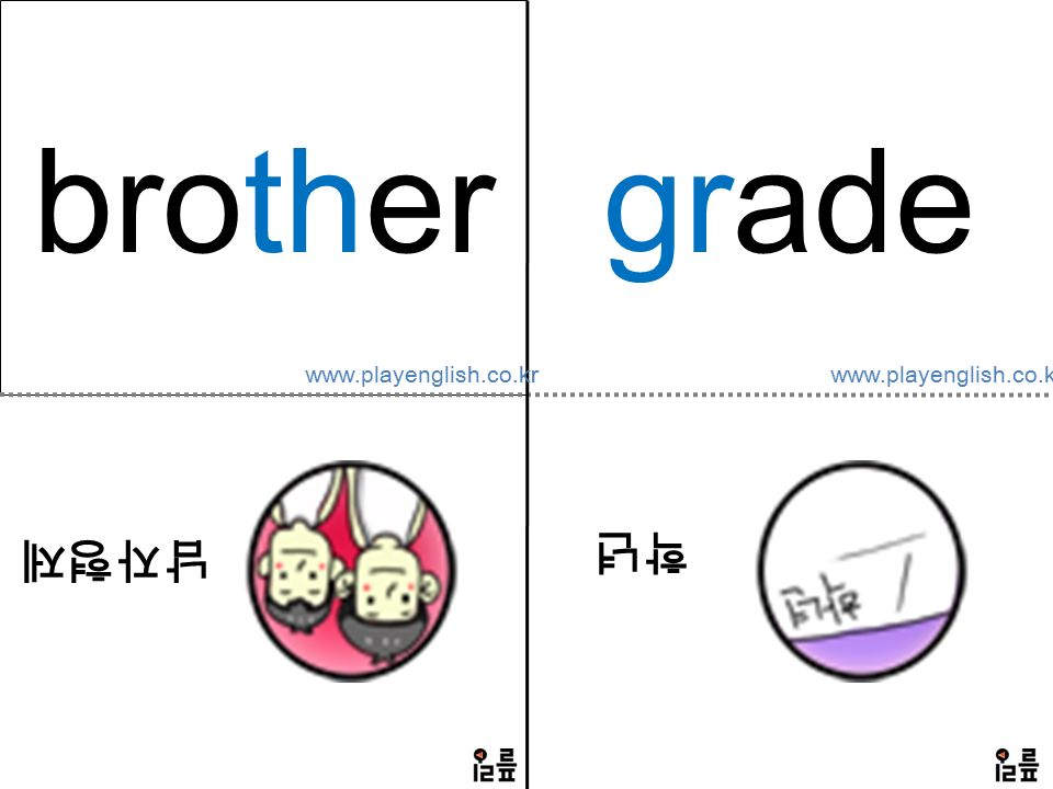 brother 남자형제 grade 학년 www.playenglish.co.kr
