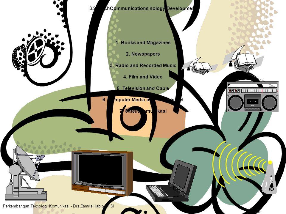 Perkembangan Teknologi Komunikasi - Drs Zamris Habib, M.Si 3.2 TechCommunications nology Development 1.