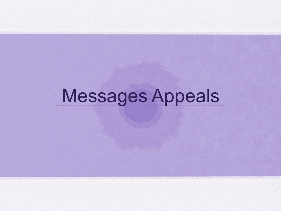 Messages Appeals