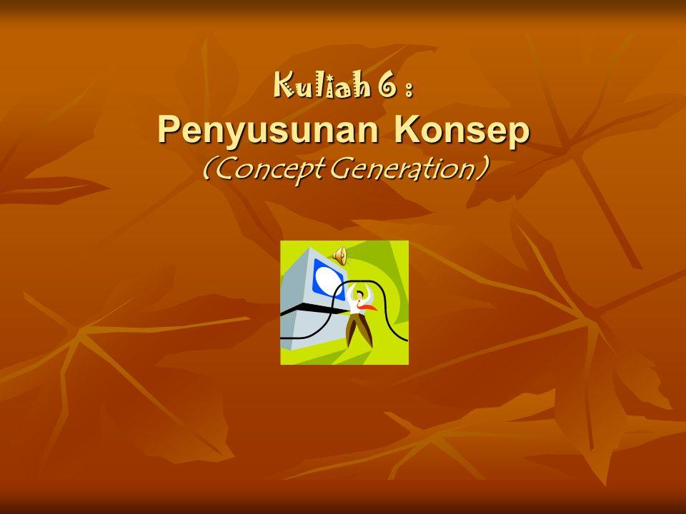 Kuliah 6 : Penyusunan Konsep (Concept Generation)