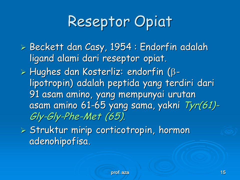prof. aza14 SAR morfin  Bila gugus hidroksi fenolik morfin diubah menjadi fenol eter, maka akan terbentuk senyawa tipe codein, dengan khasiat antitus