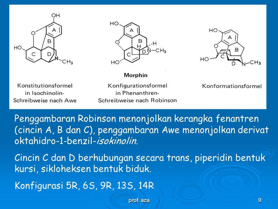 prof.aza8 Endoethenotetrahydothebaine, semi sintetis dari tebain, alkaloid minor dari morfin.
