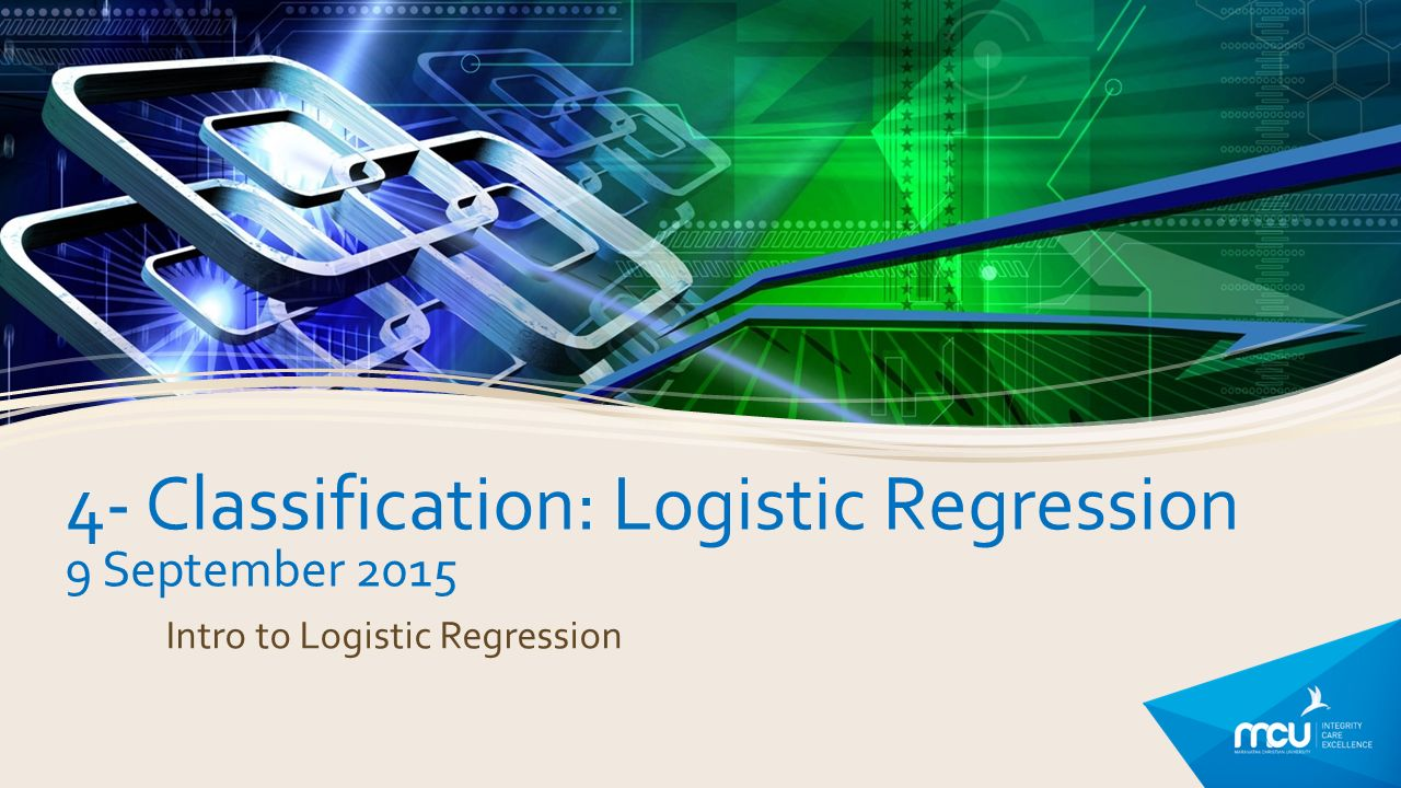 From linear to logistic regression