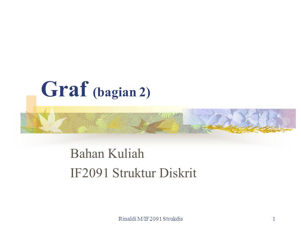 Rinaldi M/IF2091 Strukdis1 Graf (bagian 2) Bahan Kuliah IF2091 Struktur Diskrit