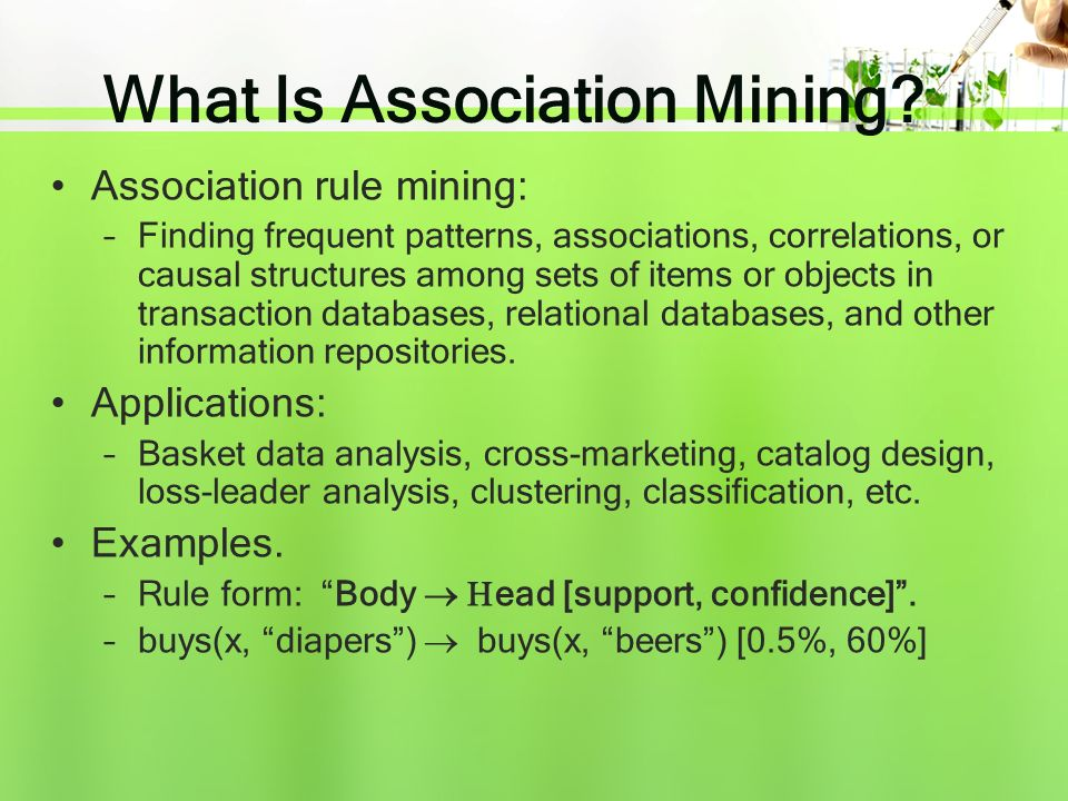 What Is Association Mining.