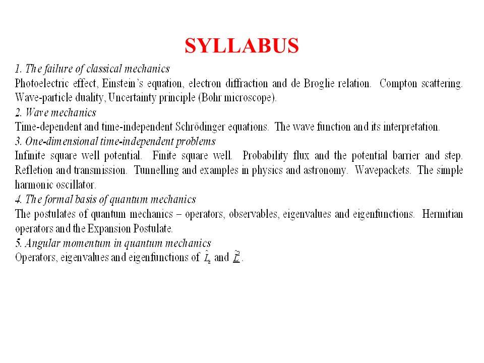 SYLLABUS (cont)