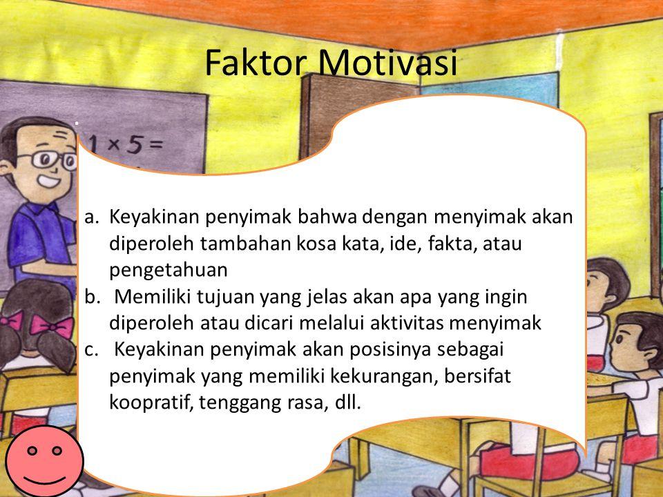 Faktor Motivasi.