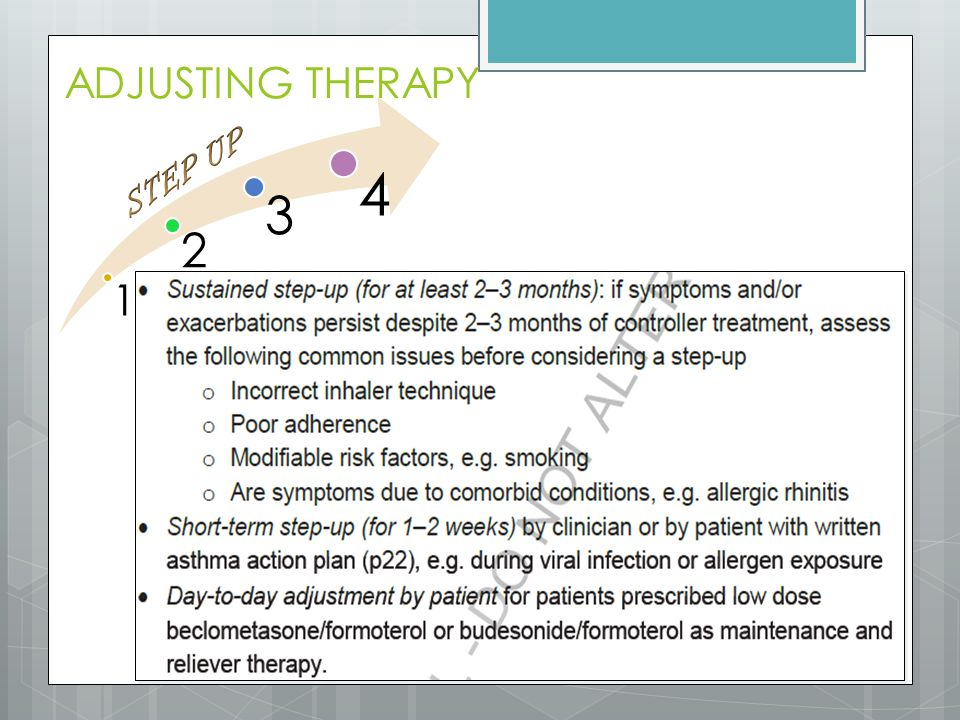 ADJUSTING THERAPY 1 2 3 4