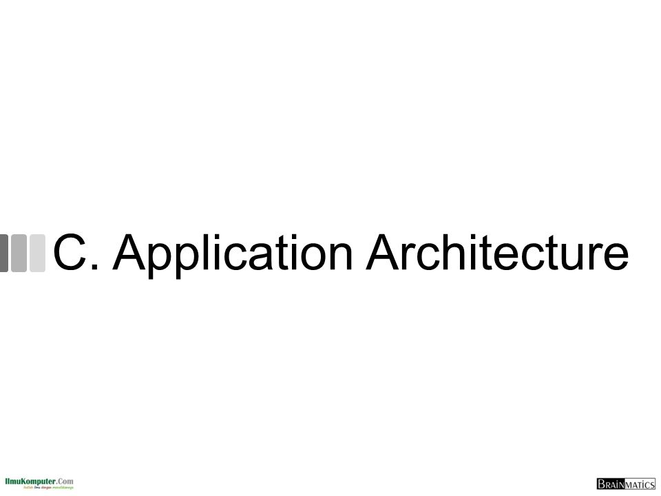 C. Application Architecture