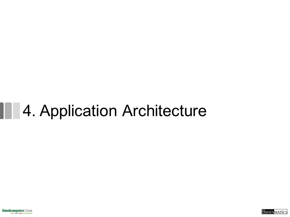 4. Application Architecture