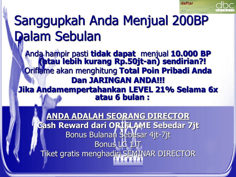 Sanggupkah Anda Menjual 200BP Dalam Sebulan Anda hampir pasti tidak dapat menjual 10.000 BP (atau lebih kurang Rp.50jt-an) sendirian?.