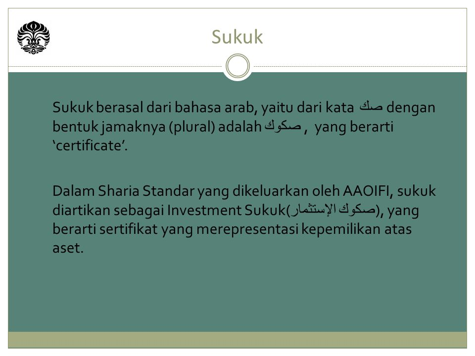 Sovereign Sukuk (QATAR) Qatar SPV 5.Periodic & dissolution distributio amount sukuk 2.