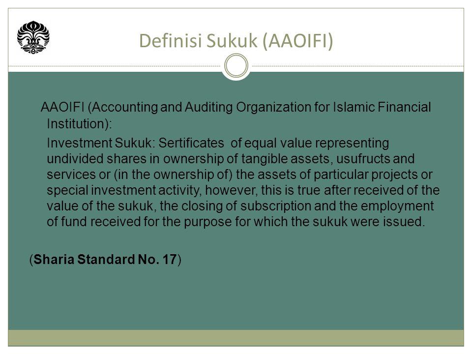 Akad Investasi Sukuk (AAOIFI) ItemAAOIFI Sharia Standard No.