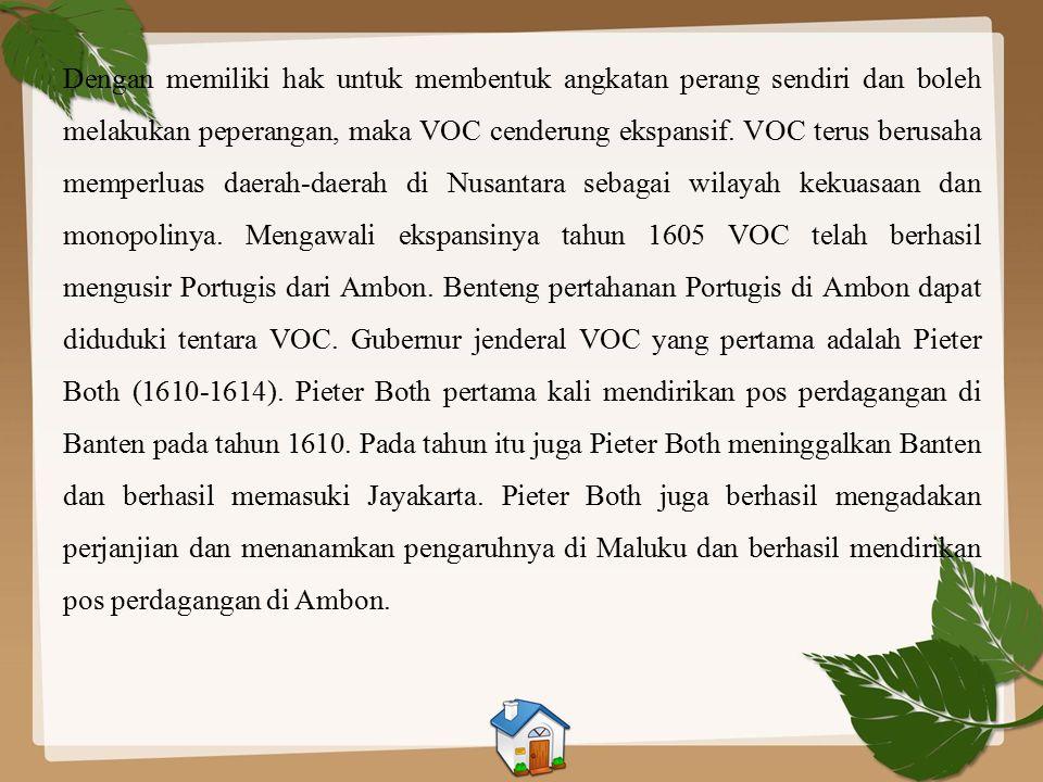 Kemaharajaan VOC Lahirnya VOC Para pedagang atau perusahaan dagang Portugis bersaing dengan para pedagang Belanda, bersaing dengan para pedagang Spany