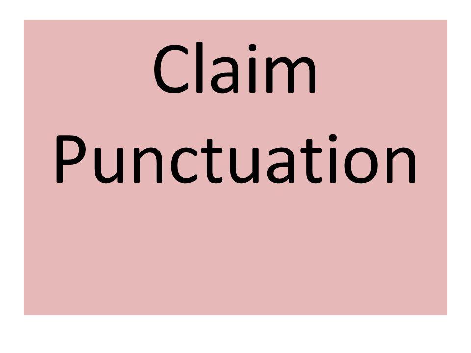Claim Punctuation