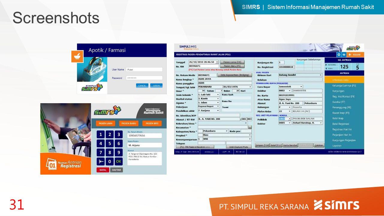 SIMRS | Sistem Informasi Manajemen Rumah Sakit 31 Screenshots