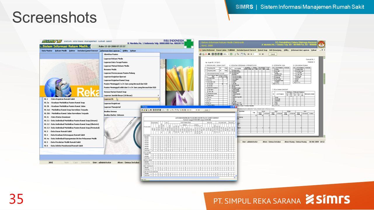 SIMRS | Sistem Informasi Manajemen Rumah Sakit 35 Screenshots