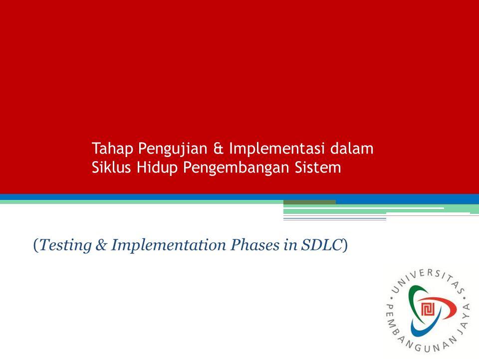 Tahap Pengujian & Implementasi dalam Siklus Hidup Pengembangan Sistem (Testing & Implementation Phases in SDLC)