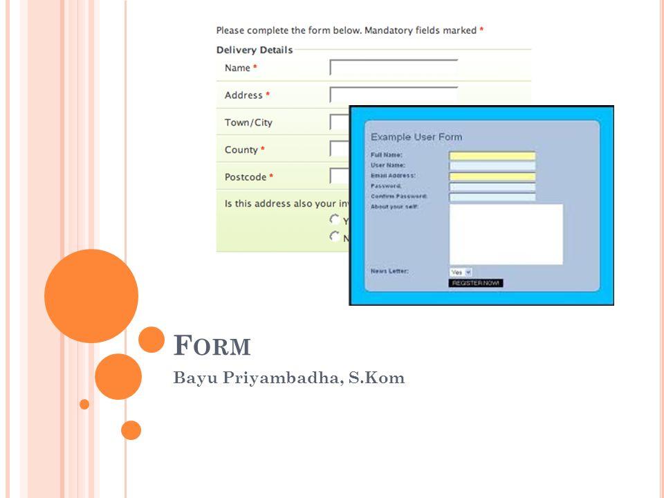 F ORM Bayu Priyambadha, S.Kom