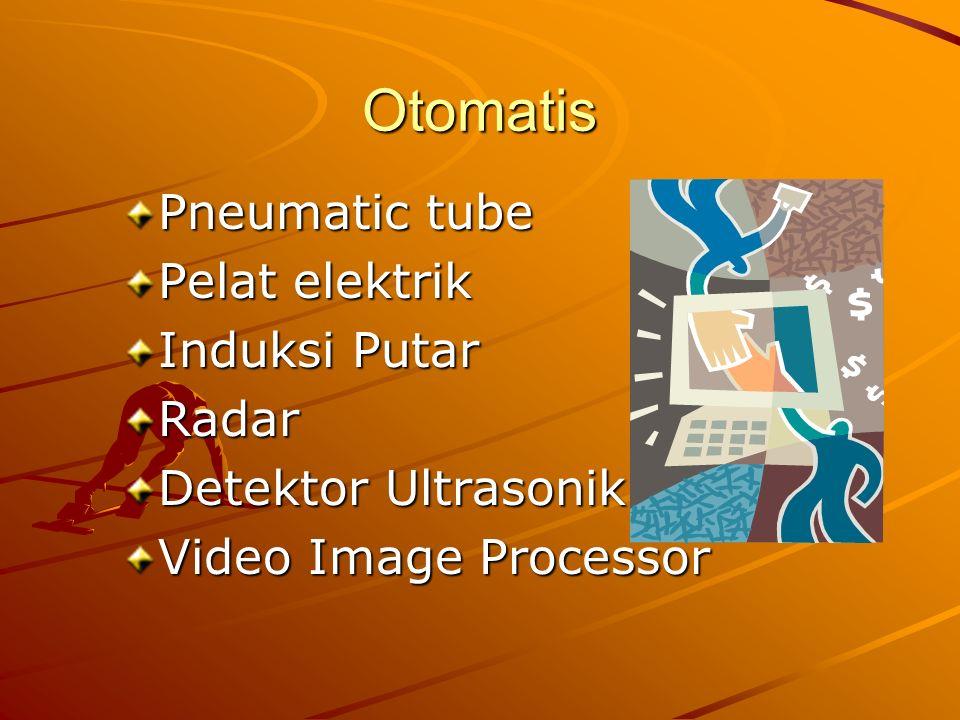 Otomatis Pneumatic tube Pelat elektrik Induksi Putar Radar Detektor Ultrasonik Video Image Processor