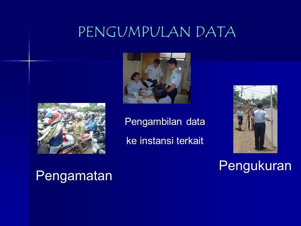 Pengambilan data ke instansi terkait PENGUMPULAN DATA Pengamatan Pengukuran
