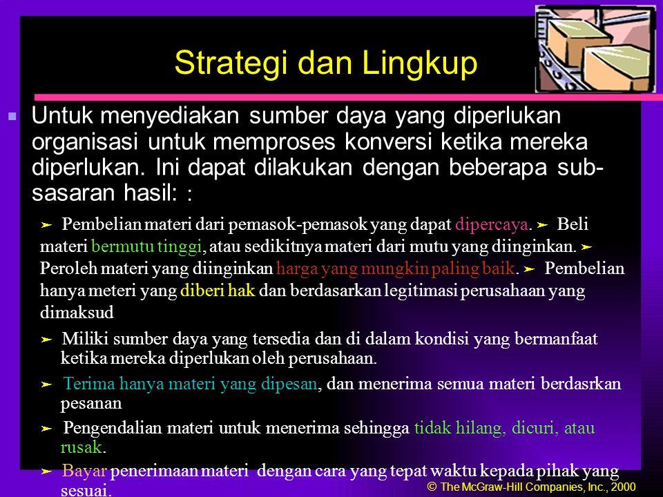 Strategi dan Lingkup ■ Untuk menyediakan sumber daya yang diperlukan organisasi untuk memproses konversi ketika mereka diperlukan.