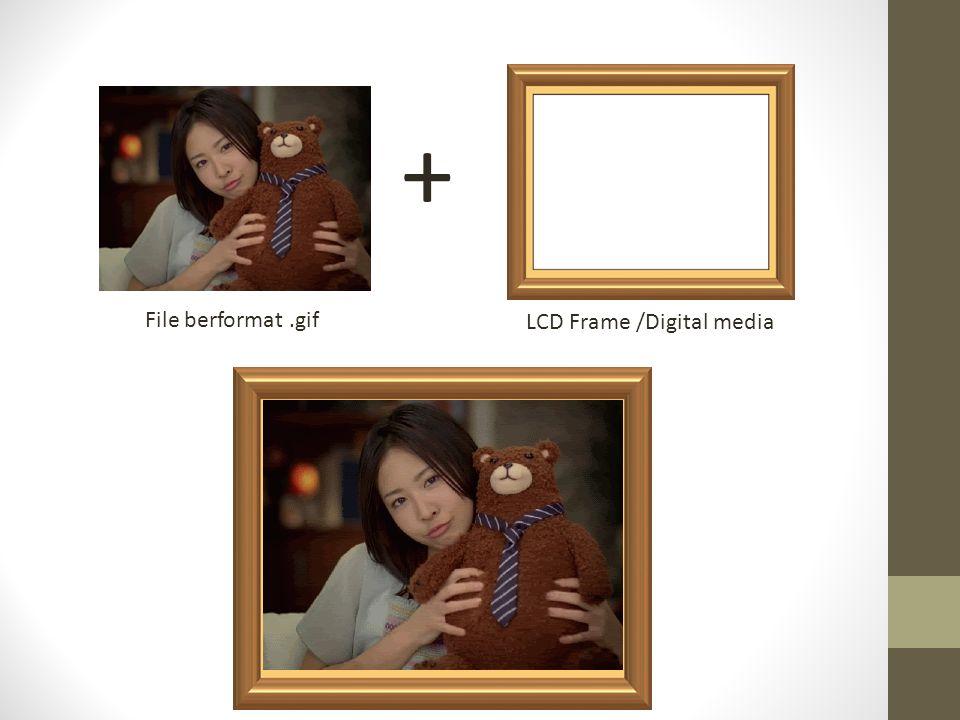 Final product Bentuk akhir produk adalah berupa perangkat keras bingkai/frame foto yang bisa mendisplay suatu file yang berformat.GIF atau gambar video, jadi bukan berupa softfile, software atau aplikasi lagi.