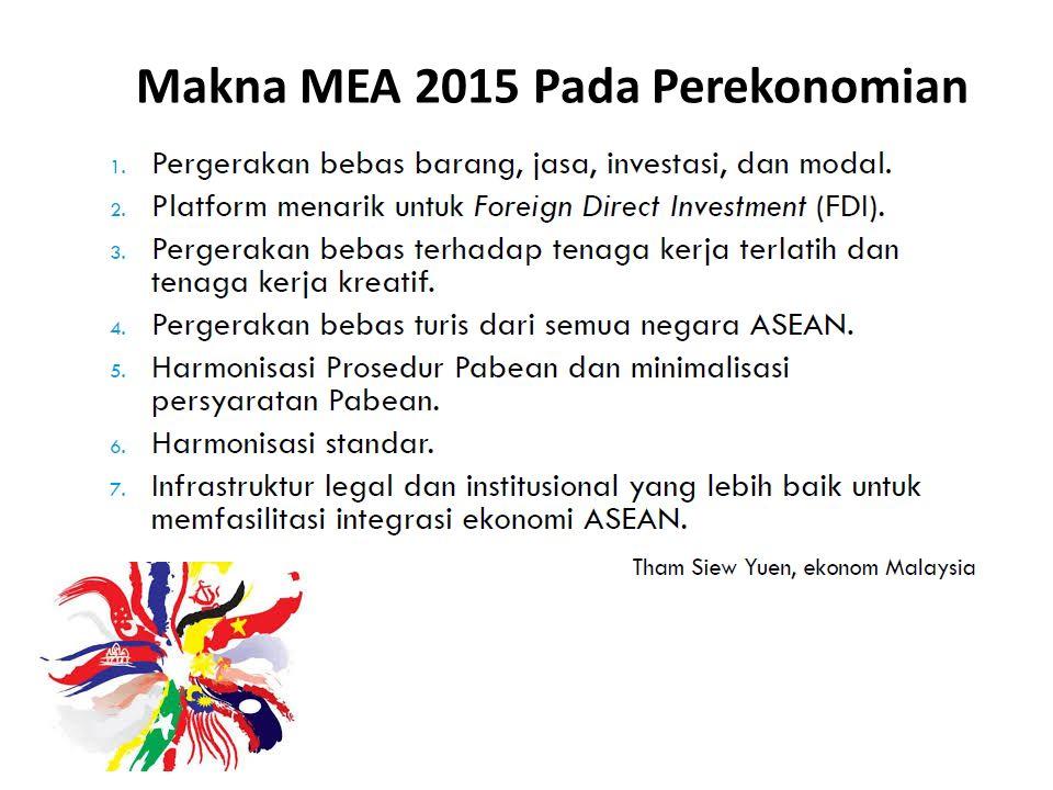 Makna MEA 2015 Pada Perekonomian