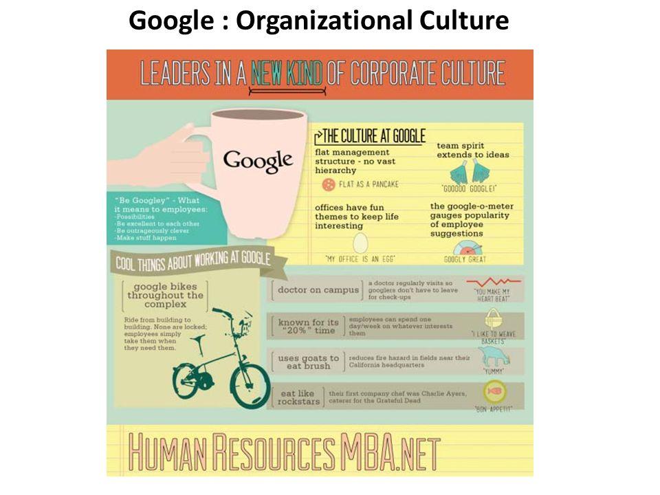 Google : Organizational Culture