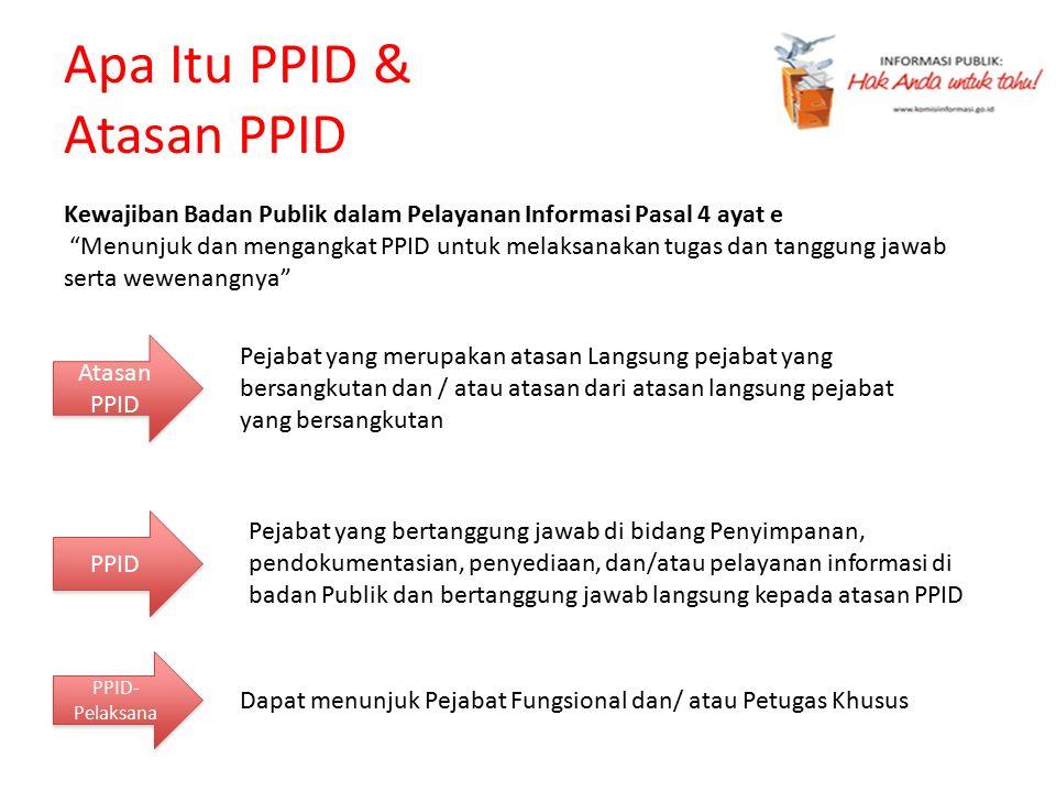 Apa Itu PPID & Atasan PPID Pejabat yang bertanggung jawab di bidang Penyimpanan, pendokumentasian, penyediaan, dan/atau pelayanan informasi di badan P