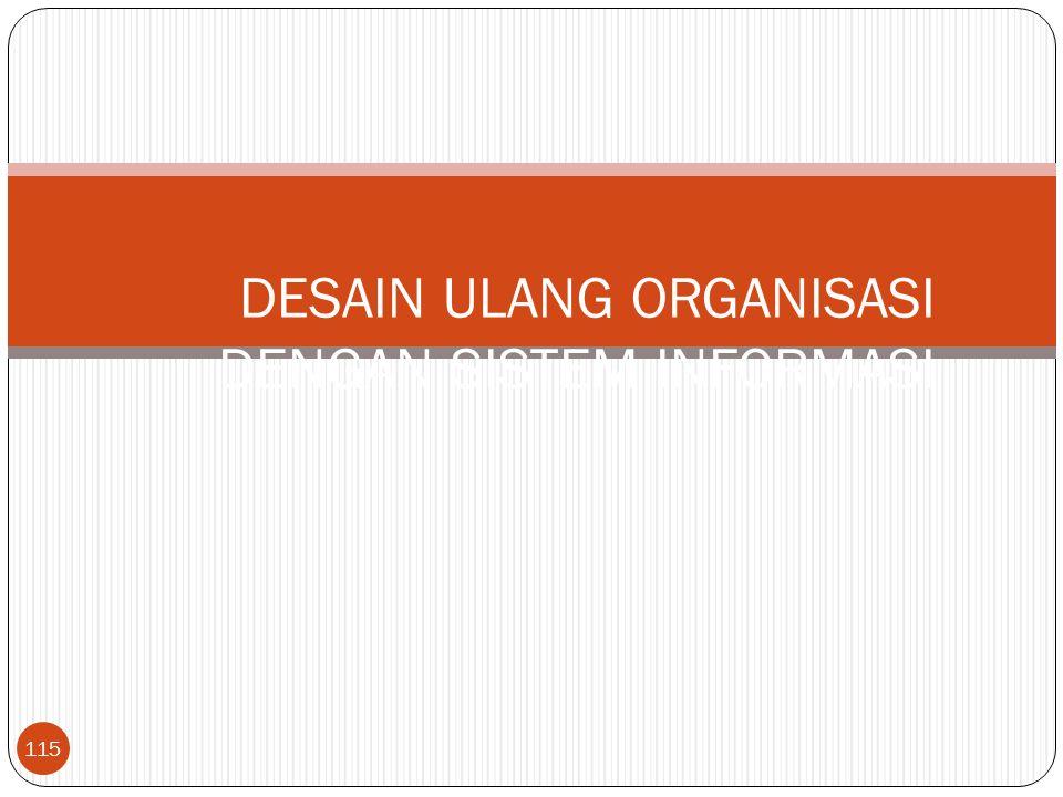 115 DESAIN ULANG ORGANISASI DENGAN SISTEM INFORMASI