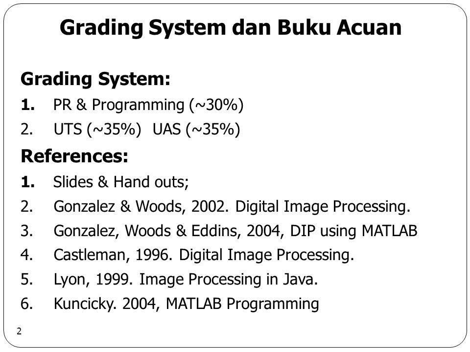 2 Grading System dan Buku Acuan Grading System: 1.