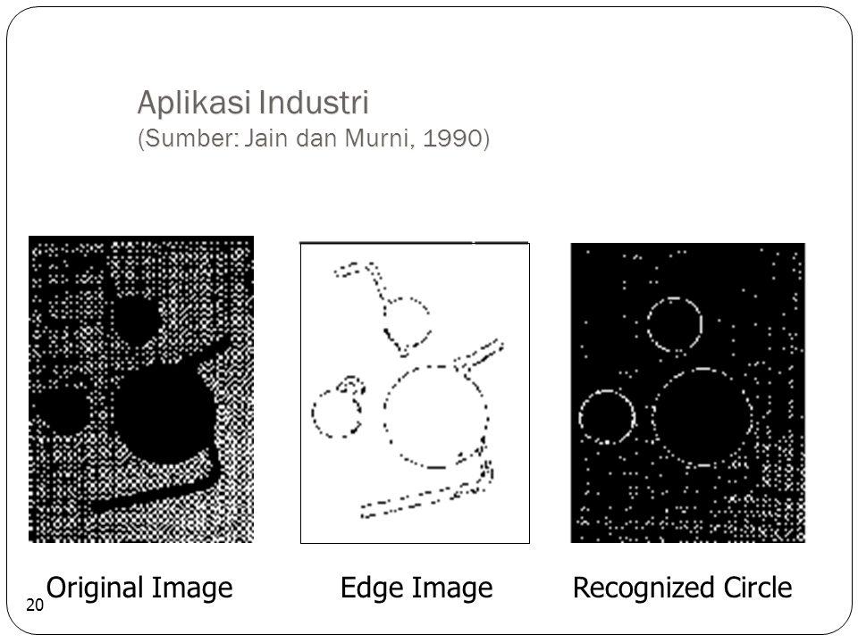 Aplikasi Industri (Sumber: Jain dan Murni, 1990) 20 Original Image Edge Image Recognized Circle