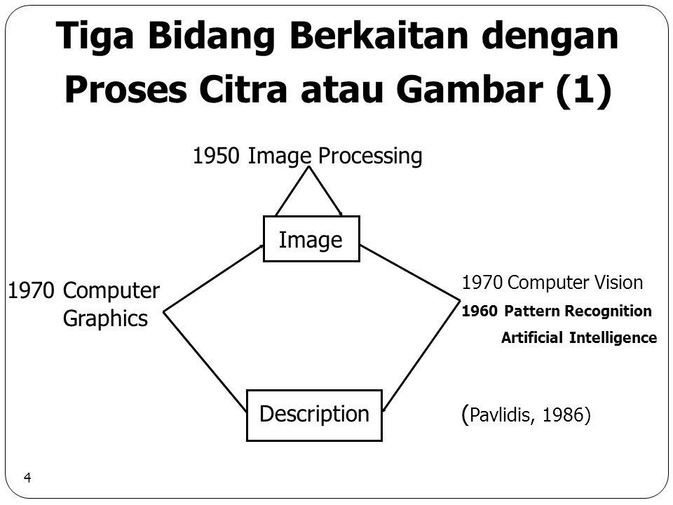 5 Tiga Bidang Berkaitan dengan Proses Citra atau Gambar (2) (MSU, 1990)